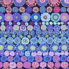 Tissu Kaffe Fassett GP169 - Row Flowers Blue